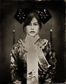 qing,dynasty,chinese,woman,8x10,wet,plate collodion,tintype