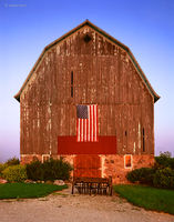 patriot,barn,wisconsin,flag