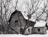 winter,barn,illinois