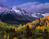 autumn,sunrise,mt,sneffels,colorado,san,juan,mountains