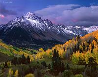 autumn,sunrise,mt,sneffels,colorado,san,juan,mountains