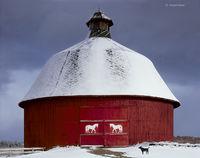 horse,round,barn,michigan,winter