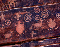 southwest,canyon,inhabitants,ancient,petroglyphs