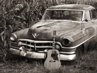 gibson,hummingbird,illinois,old,cadillac,guitar