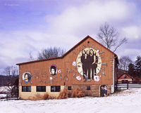 beatles,barn,winter,ohio