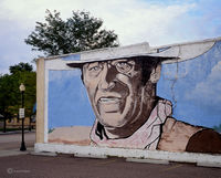 duke,john,wayne,mural,colorado