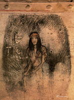 young,warrior,southwest,old,prison,drawing