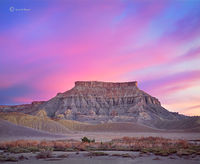 majestic,butte,colorado,plateau,shale,dawn