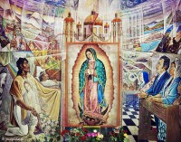 pilsen,church,mural,chicago,virgin,guadalupe