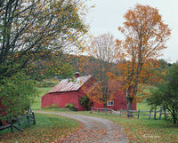 vermont,red,barn,new england