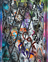 graffiti,covered,door,chicago