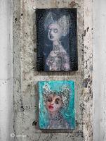 artist,studio,paintings,corinna,button,chicago