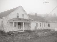 maine,farmhouse,fog