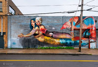 mermaid,street,art,new,york