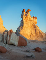 Hopi,hoodoo,formation,dusk,sunset