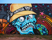 Skeleton,arizona,street,art
