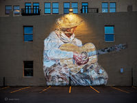 this,ole,cowboy,mural,night,usa