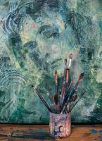artist,studio,chicago,paint,brushes,print