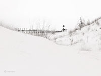 snow,drifts,winter,lake,michigan,lighthouse