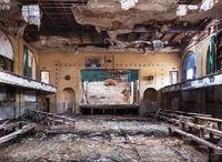abandoned,church,gymnasium,decaying,gym,rust,belt