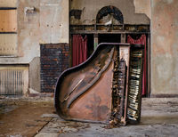 church,piano,abandoned,church,faith,rust,belt