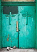 st,dominics,chicago,abandoned, church,doors,chicago