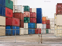 stacked,shipping,containers,chicago