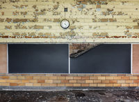 lost,time,abandoned,classroom,rust,belt