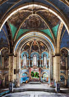 forgotten,cathedral,abandoned,chicago,church