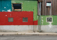 windows,colored,wall,chicago