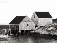 two,fishing,shacks,nova,sscotia