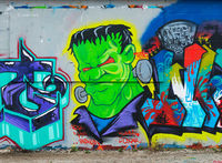 frankenstein,chicago,street,art
