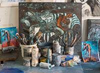 artist,studio,chicago,corinna,button