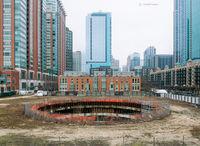 spireless,abandoned,skyscraper,foundation,chicago