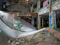 abandoned,building,ramp,skateboard,skate,board,rust,belt