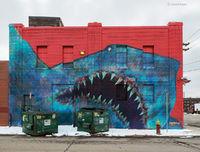 shark,mural,street,art,detroit,shark,toof