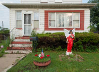 front,yard,inner,city,home,gary,indiana