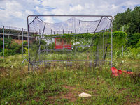 reclamation,abandoned,high,school,baseball,field,rust,belt