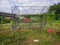 reclamation,abandoned,high,school,baseball,field,rust,belt
