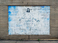 faded,jesus,religious,mural,abandoned,church,rust,belt