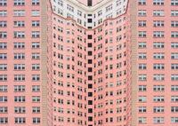 urban,canyon,pink,apartment,building,chicago