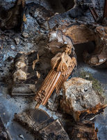 fallen,angel,abandoned,church,relic