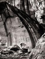 five,guardians,ancient,pictographs,sandstone,canyon,colorado,plateau