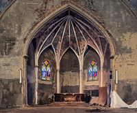 forgotten,altar,rust,belt,church,abandoned,faith
