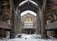 winter,ruins,abandoned,church,rust,belt