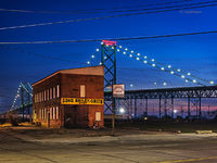 bridge,detroit,urban,landscape,night