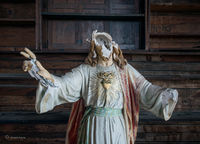 faceless,jesus,statue,abandoned,boston,church
