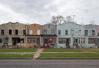 deserted,block,abandoned,townhomes,rust,belt