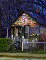 graffiti,house,evanston,illinois,city,streets