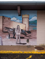 fort,lupton,dollar,store,old,native american,mural,colorado